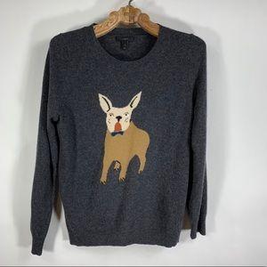 J Crew French bulldog sweater